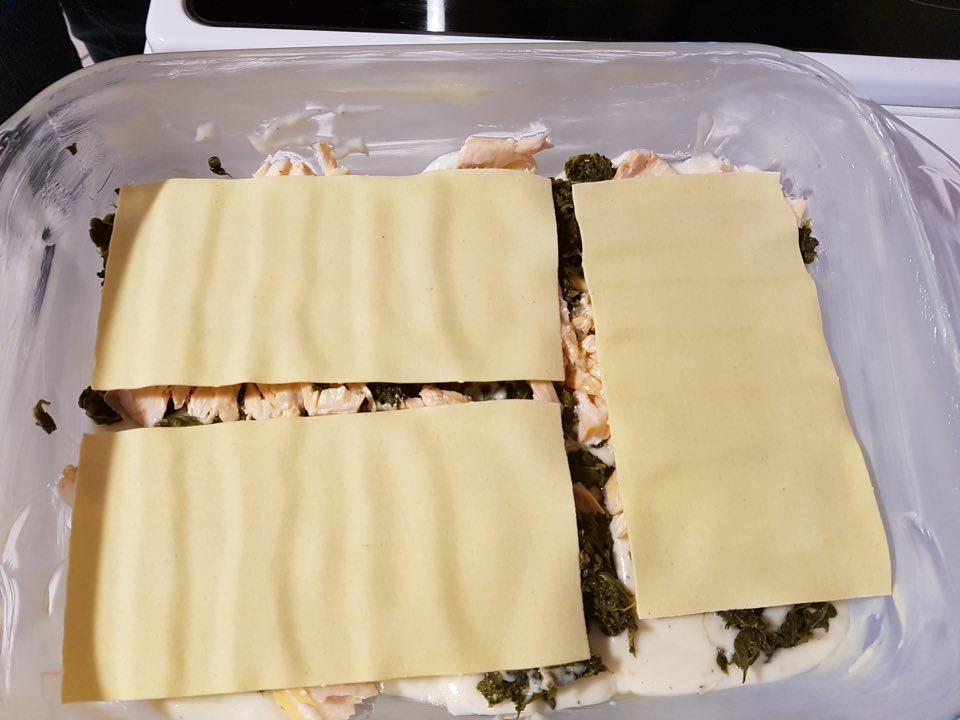 feuilles lasagnes au saumon et épinards