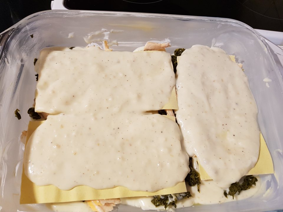 béchamel lasagnes au saumon et épinards