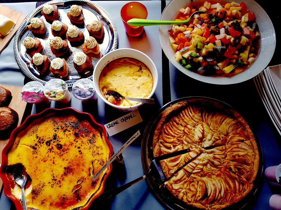 Buffet de dessert à volonté brunch chez nous