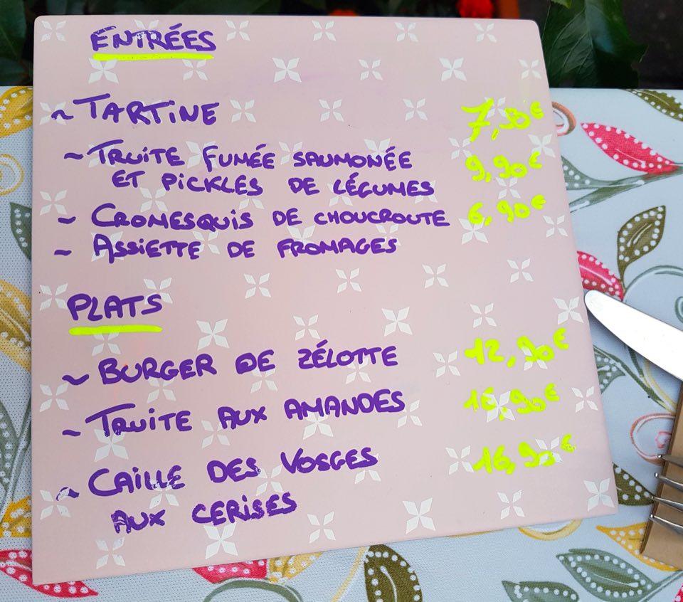 menu pont aux chats Strasbourg