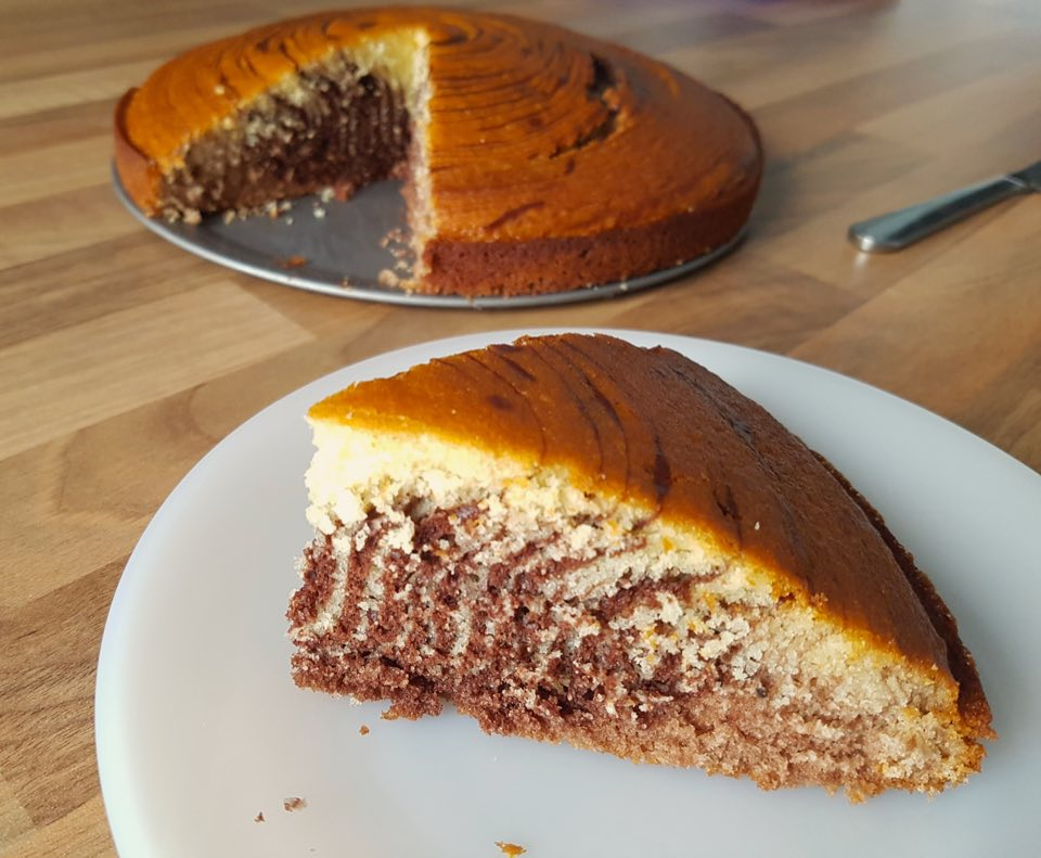 Gâteau zébré recette miss elka