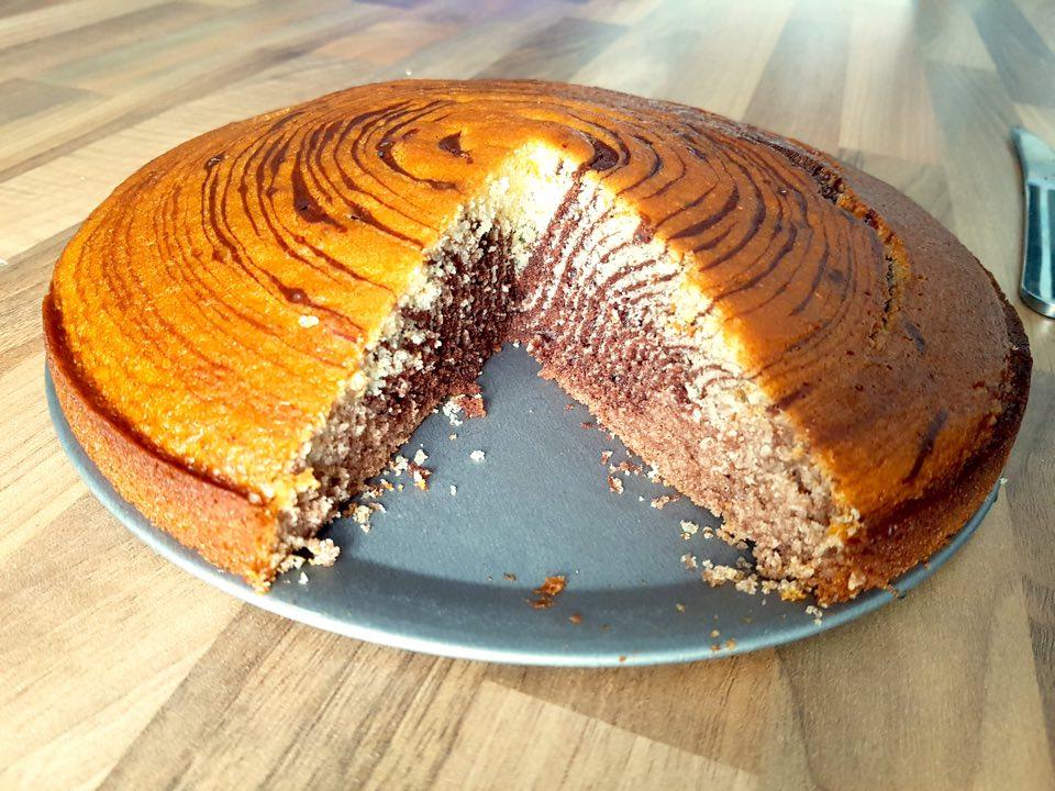 Gâteau zébré entier miss elka