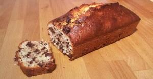 Cake noix de coco et pépites de chocolat noir