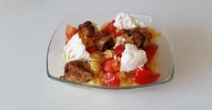 recette Salade de pâtes, poulet et brousse
