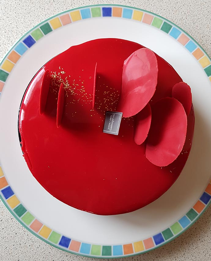 gateau rouge saint valentin