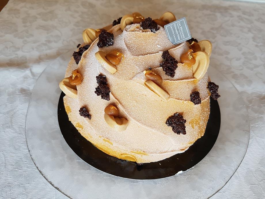 glace caramel dome