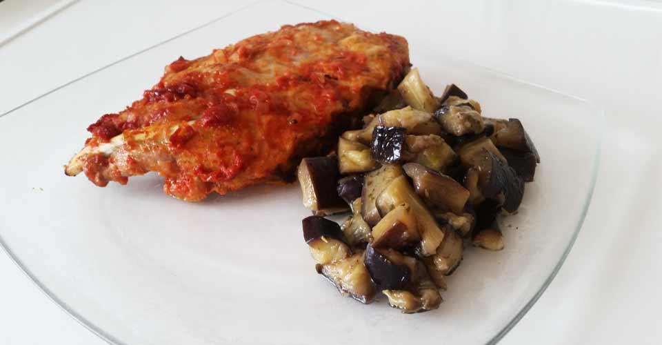 Ribs et poêlée d'aubergine