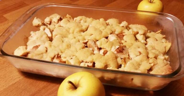 Crumble aux pommes – recette dessert facile
