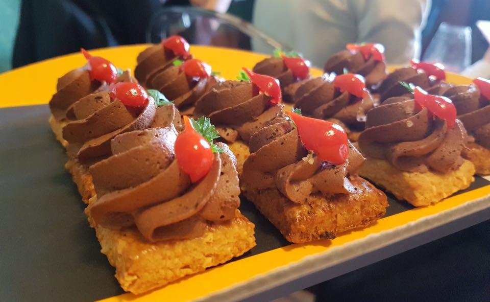 mousse chocolat sur toast