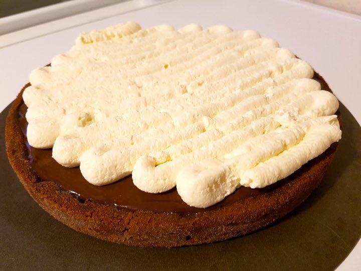 tarte chocolat chantilly montage