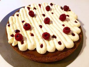 Ma recette de tarte au chocolat et framboises