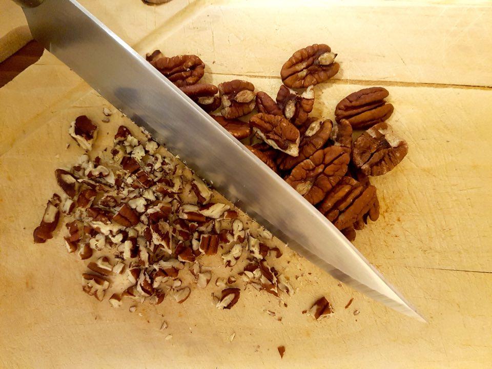 noix de pécan hachées