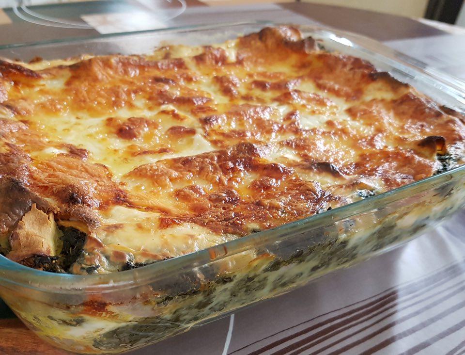 Lasagnes au saumon et épinards – recette
