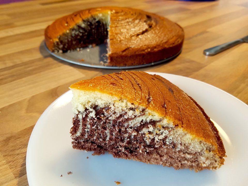 gâteau zébré recette : cake marbré chocolat
