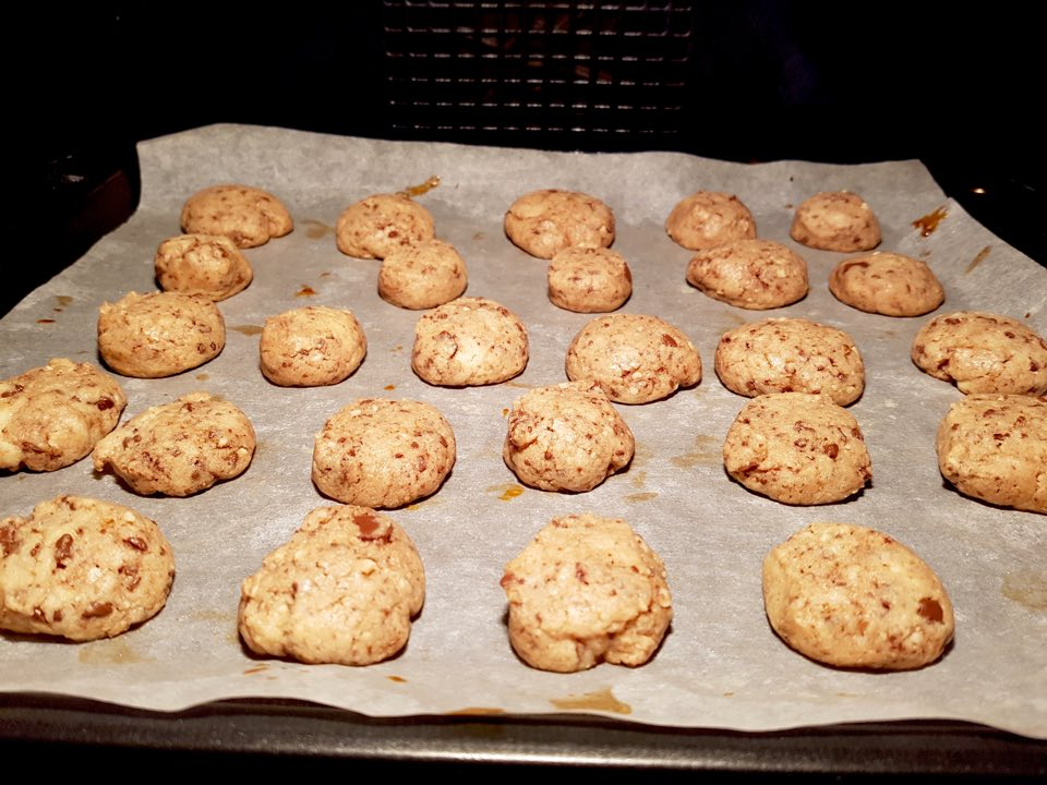 cookies noix chocolat cuisson