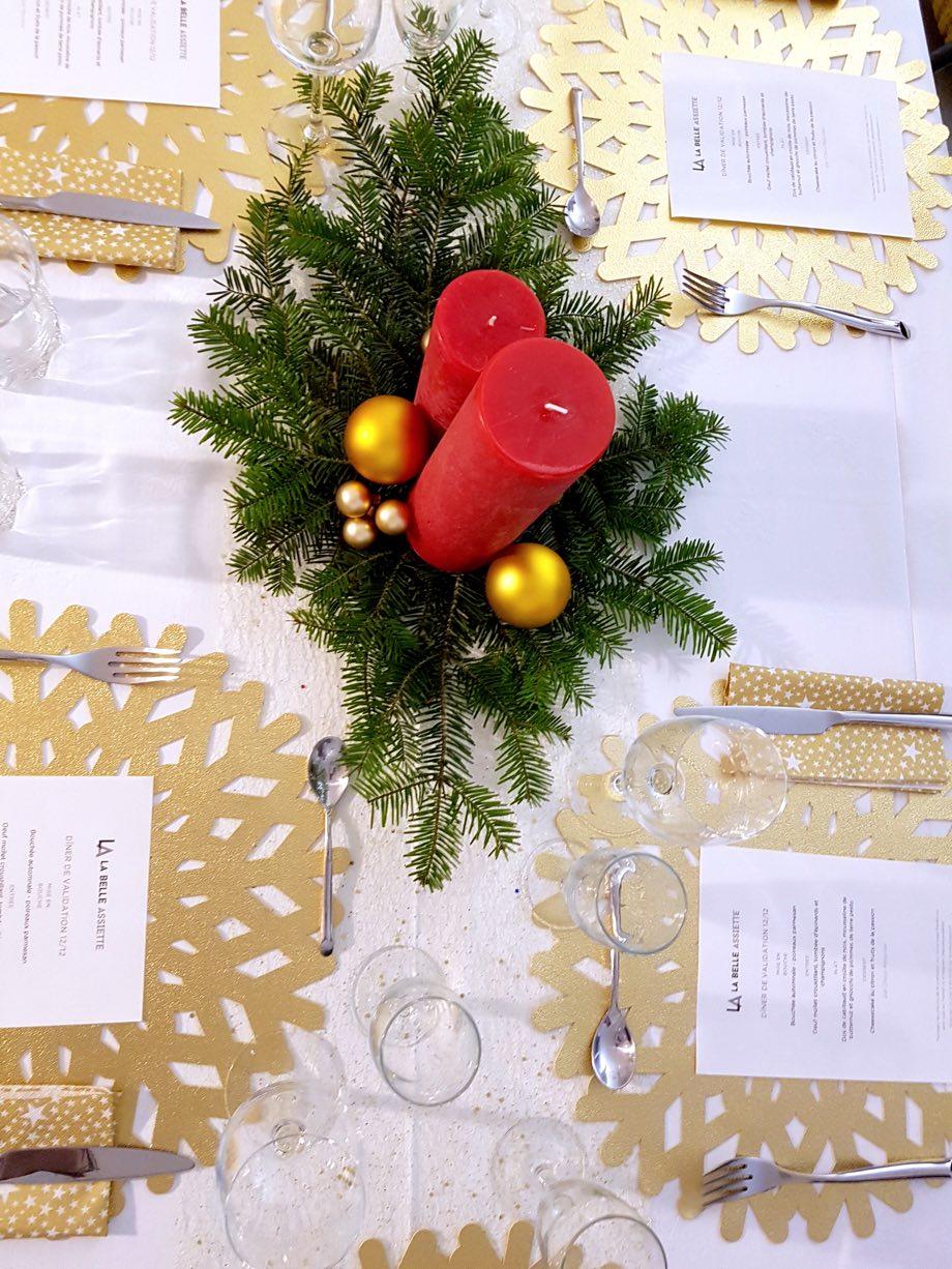la belle assiette miss elka blog strasbourg déco table bougie rouge