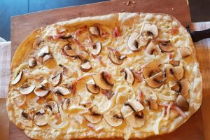 tarte flambée champignon made in franz miss elka blog strasbourg