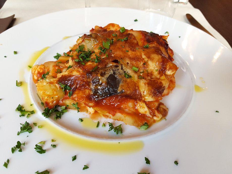 lasagnes vegetariennes Monteleone à Strasbourg