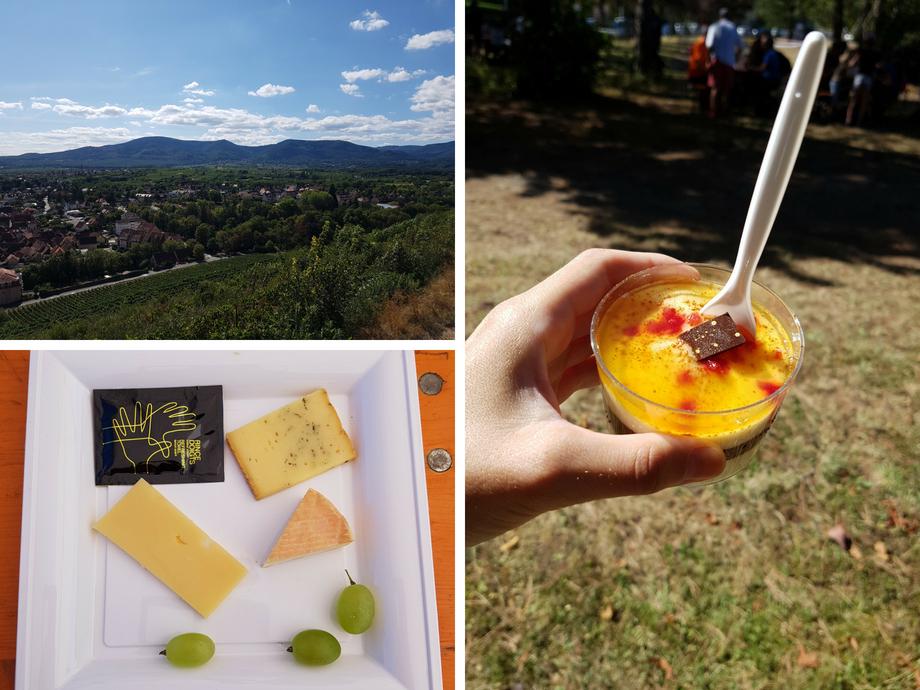 dessert promenade gastronomique du Schenkenberg à Obernai