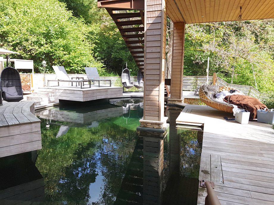 piscine naturelle spa et brunch à la chenaudière