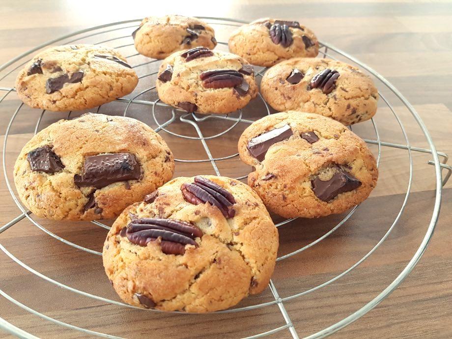 recette cookies pépites de chocolat noir et noix de pécan