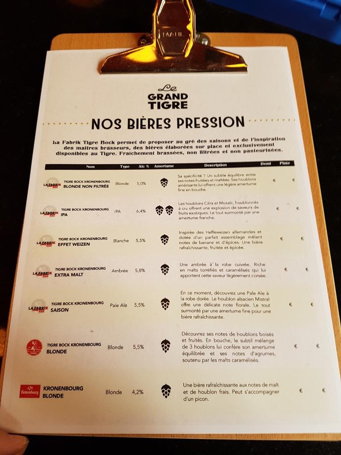 liste biere tigre strasbourg