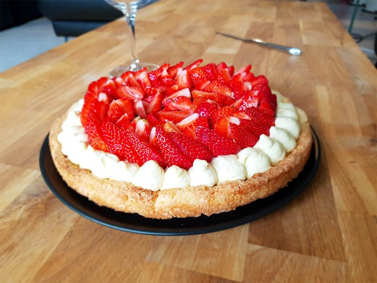 Recette tarte aux fraises et crème diplomate