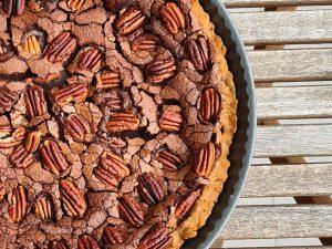 Recette de tarte au chocolat et noix de pécan
