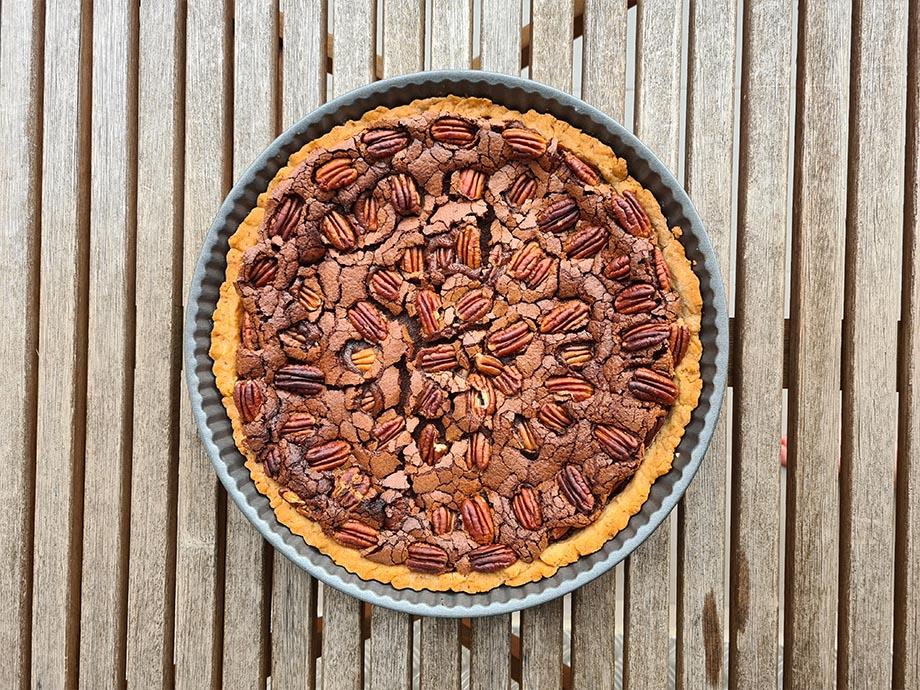 tarte-chocolat-noix-pecan-vue-haut