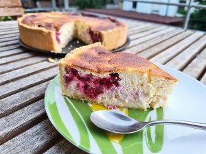 Recette de tarte au fromage blanc et framboises