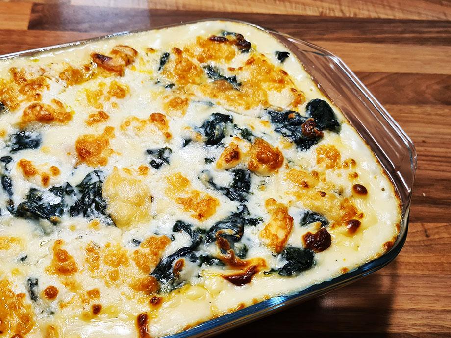Recette de lasagnes au butternut, épinard et chèvre frais