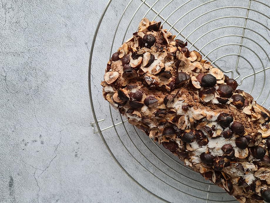 Recette de cake chocolat noisettes