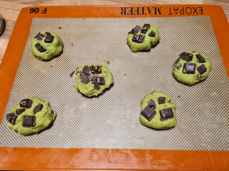 cookies-matcha-chocolat-noir-plaque