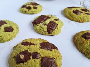 Recette de cookies matcha et chocolat noir