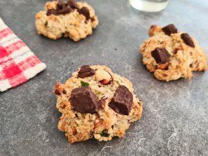 Cookies vegan chocolat noisette courgette